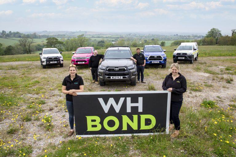 (From L to R) Nicole Harding, Steve Jenkin, Neil Tozer, Emma Haley - part of the W H Bond team