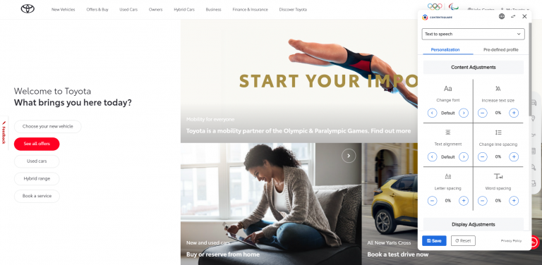Toyota Customer Website Adopts Tools to Improve Accessibility